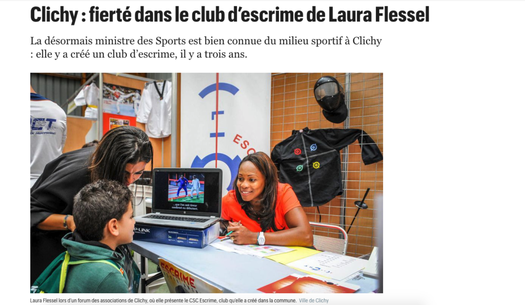 Clichy - Fierté dans le club d'escrime de Laura Flessel