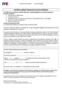 Certificat médical d'absence de contre-indication