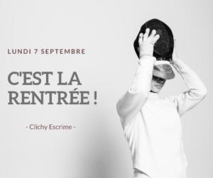 Clichy Escrime_Rentrée 2020