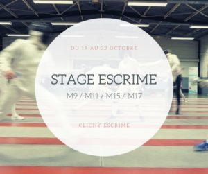 Stage Escrime 2020
